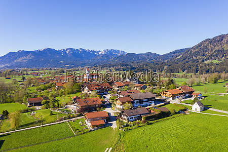 germany bavaria wackersberg drone view of