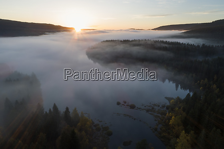 germany baden wurttemberg drone view ofschluchseelake