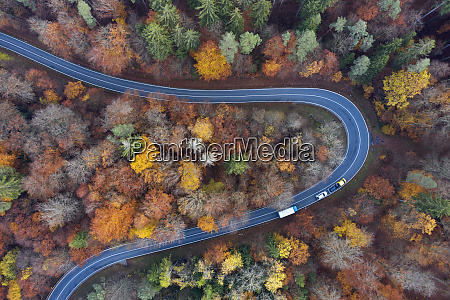 germany bavaria drone view of winding