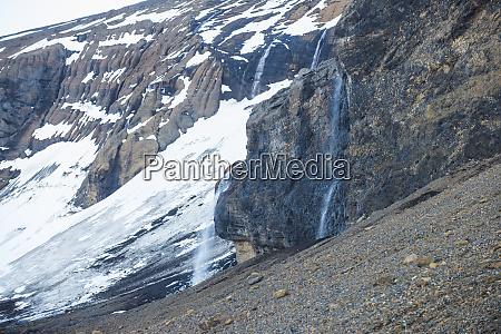 waterfall on brown bluff