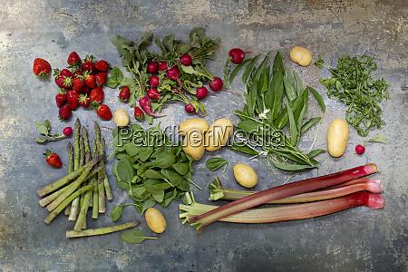 studio shot of various fruits and