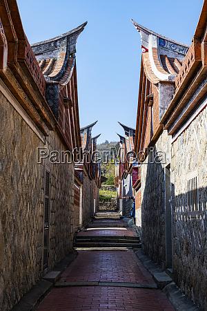 taiwan kinmen jinsha alley between traditional