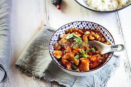 sweet and sour chicken with bell