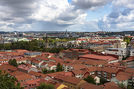 sweden gothenburg high angle view of