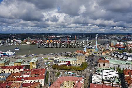 sweden gothenburg aerial view of haga