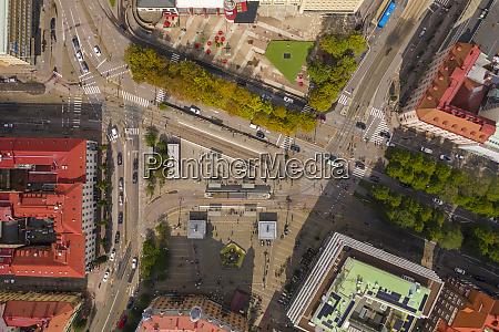 sweden gothenburg aerial view of jarntorget