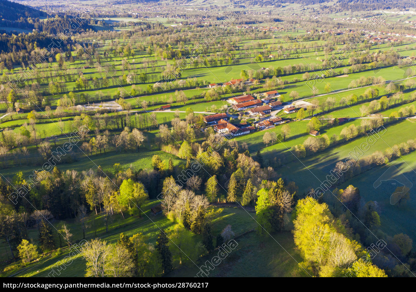 germany, , bavaria, , gaissach, , drone, view, of - 28760217
