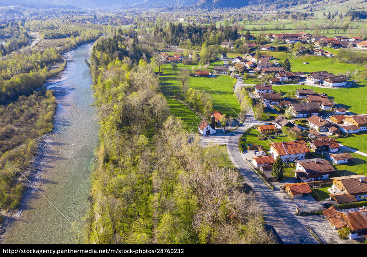 germany, , bavaria, , lenggries, , drone, view, of - 28760232
