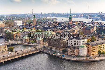 sweden sodermanland stockholm aerial view of
