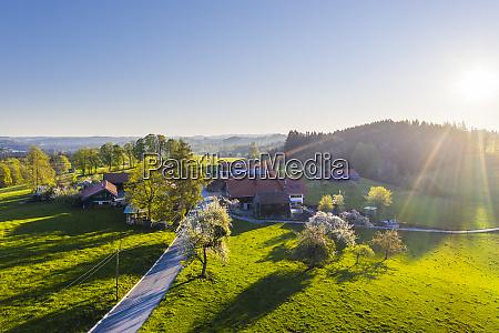 germany bavaria auf der hoh drone