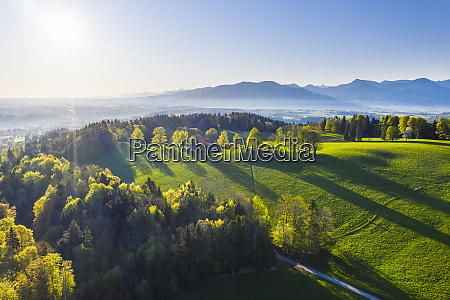 germany bavaria buchberg drone view of