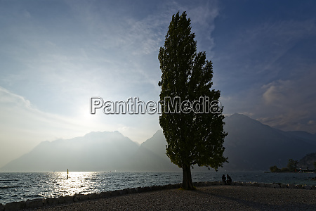 italy trentino torbole lake garda surrounded