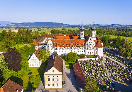 germany bavaria drone view of library