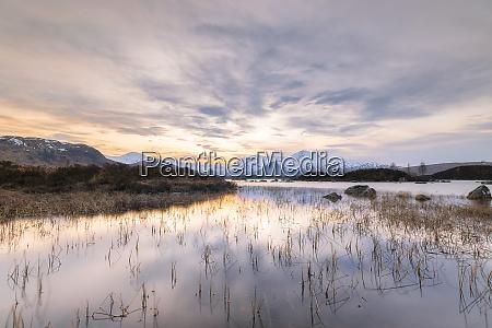 uk scotland lochannah achlaiseat sunset