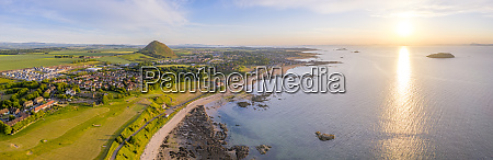 uk scotland north berwick aerial panorama