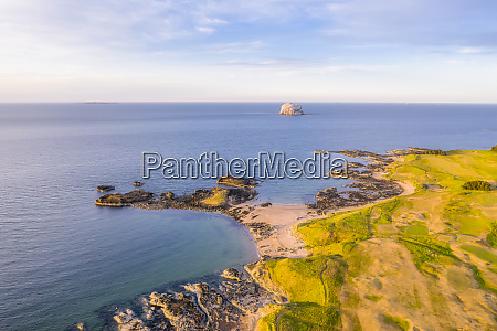 uk scotland north berwick drone view