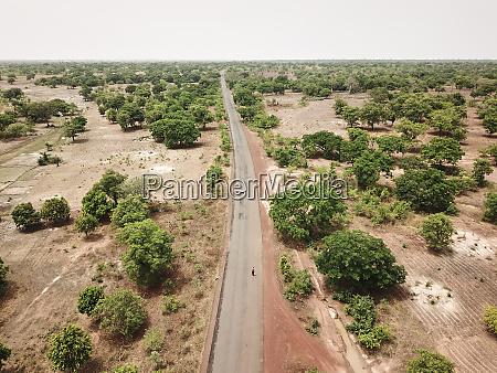 mali bougouni aerial view of rn7