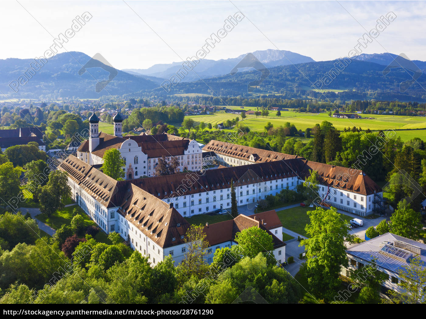 germany, , bavaria, , drone, view, of, benediktbeuern - 28761290
