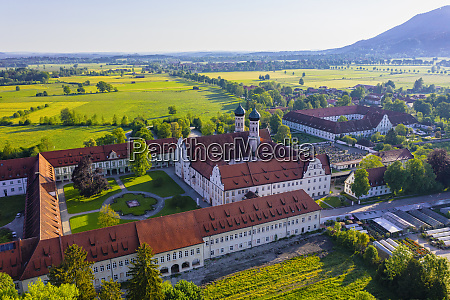 germany, , bavaria, , drone, view, of, courtyard - 28761296
