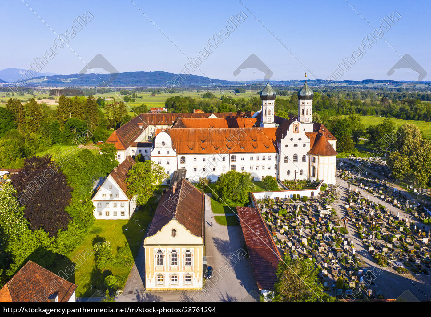 germany, , bavaria, , drone, view, of, library - 28761294