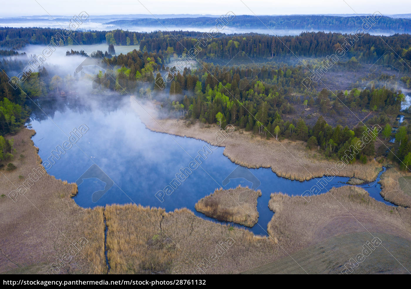 germany, , bavaria, , egling, , drone, view, of - 28761132
