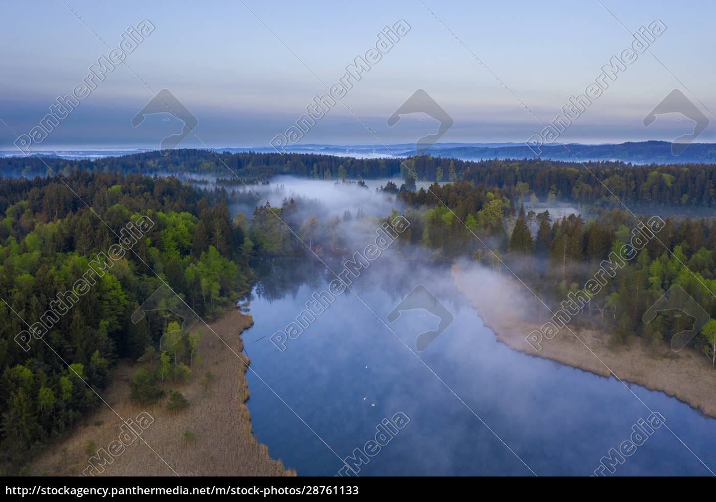germany, , bavaria, , egling, , drone, view, of - 28761133