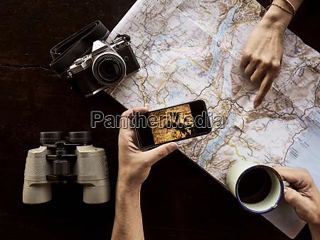 couple planning safari