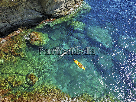 spain catalonia costa brava aerial view