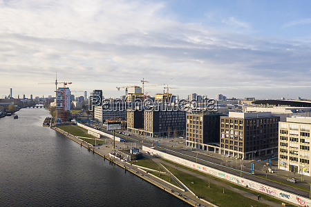 germany berlin aerial view of spree