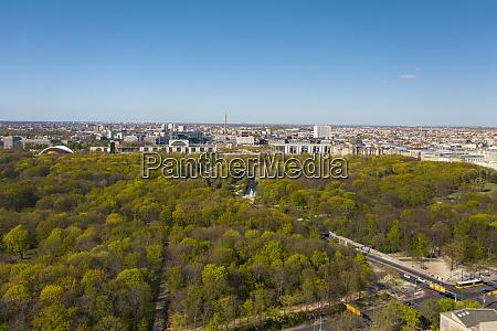 germany berlin aerial view of tiergarten