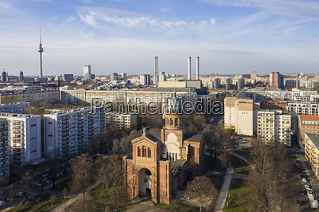 germany berlin aerial view of saint