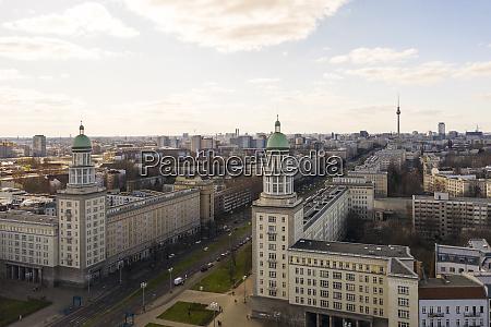 germany berlin aerial view offrankfurter tor