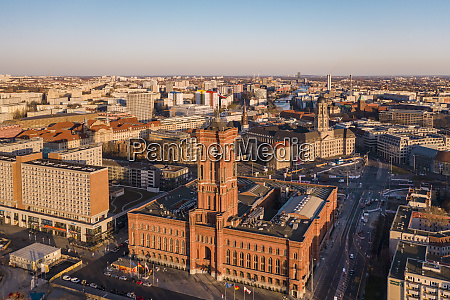 germany berlin aerial view of rotes