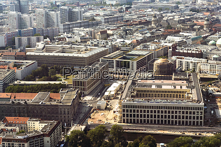 germany berlin aerial view of palace