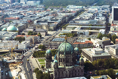 germany berlin aerial view ofberlin cathedraland