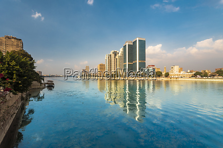 egypt cairo nile and towers of