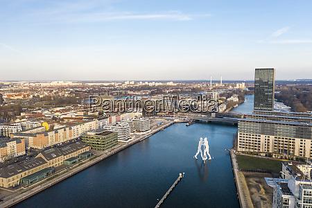 germany berlin aerial view ofmolecule man