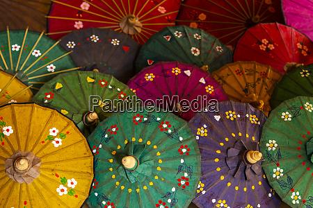 rows of colorful umbrellas