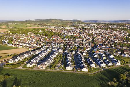 germany baden wurttemberg waiblingen aerial view