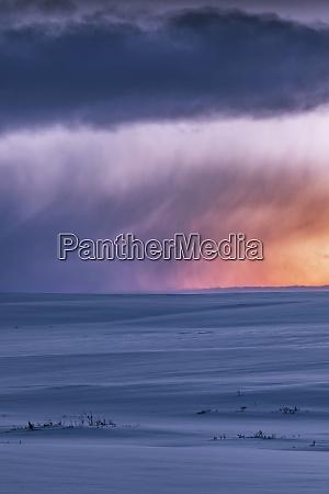 moody winter landscape tana norway