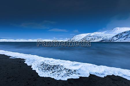 frozen foam tanafjorden suoidnesuolu tana norway