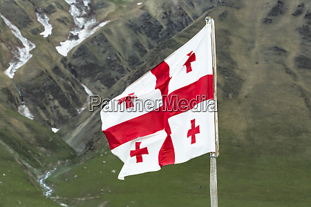 georgia svaneti ushguli georgian national flag
