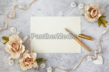 blank greeting card for wedding day