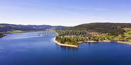 germany baden wurttemberg schluchsee aerial panorama