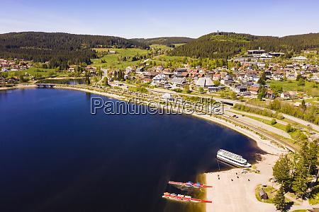 germany baden wurttemberg schluchsee aerial view