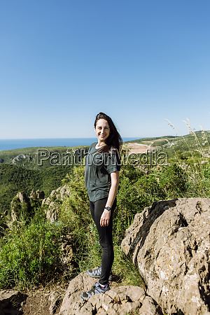 hiker at the top of a