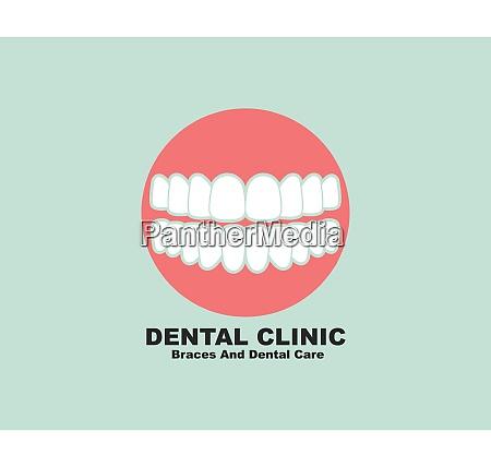 dental clinic icon logo vector illustration
