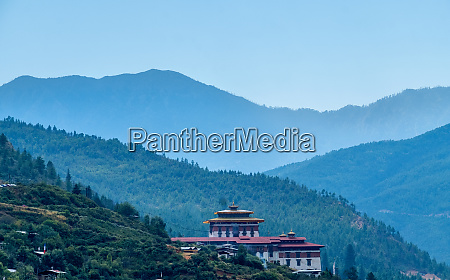 dzong in the city of paro