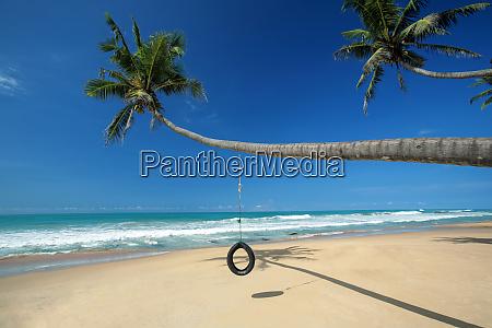 beach near galle sri lanka asia