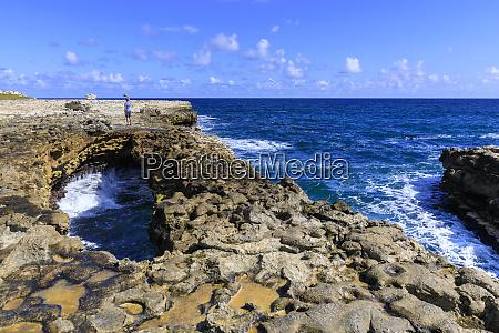 devils bridge limestone rock formation and